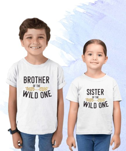 Sibling Birthday Shirts, Wild One Family, Family Birthday Shirts