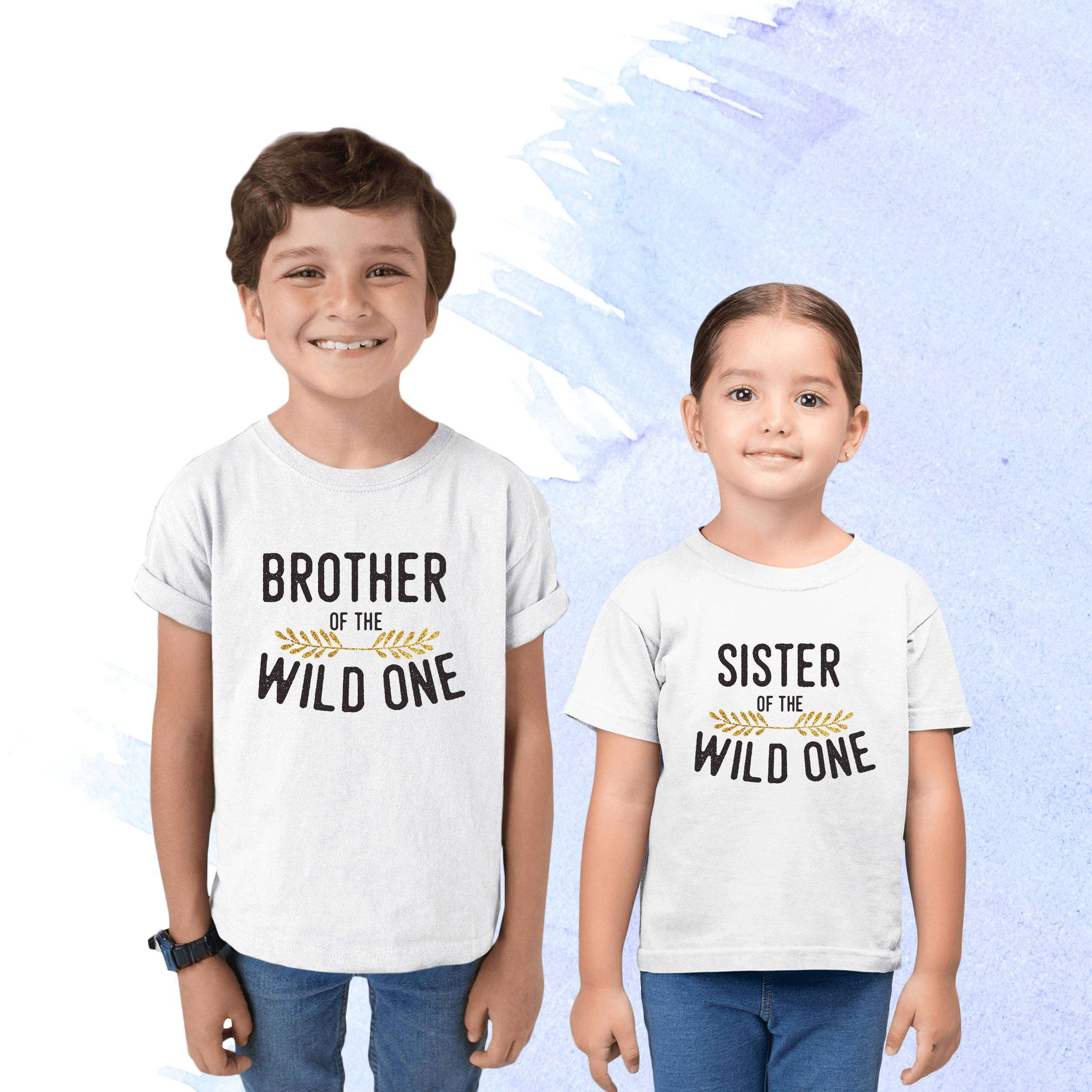 dadac768 Brother, Sister, Wild One Family, Family Shirts - Fabconic