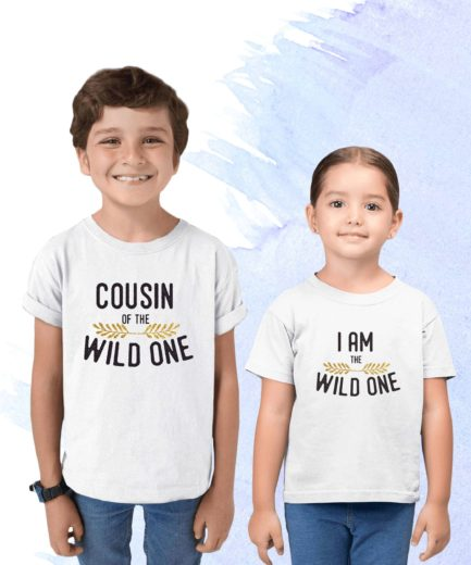 Matching Cousin Birthday Shirts, Cousin of the Wild One, Wild One Family Shirts