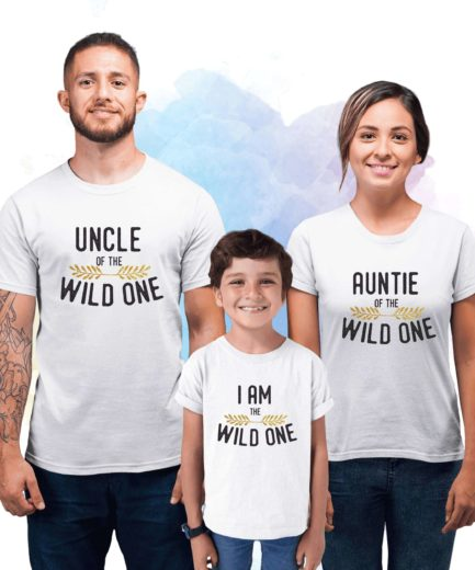 Aunt Uncle Gift, Aunt Uncle Kid, Wild One Family, Family Shirts