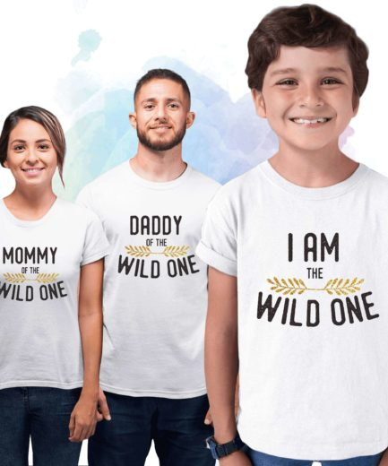 Wild One Family Shirts, Dad Mom Baby, Matching Family Shirts