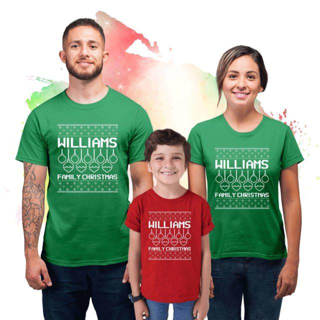Custom Ugly Christmas Shirts, Christmas Family Matching Shirts