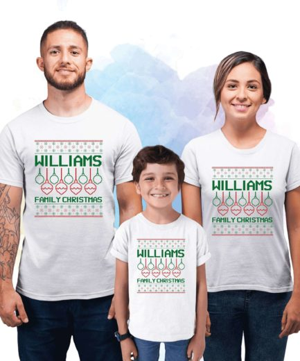 Custom Ugly Christmas Shirts, Christmas Family Matching Shirts