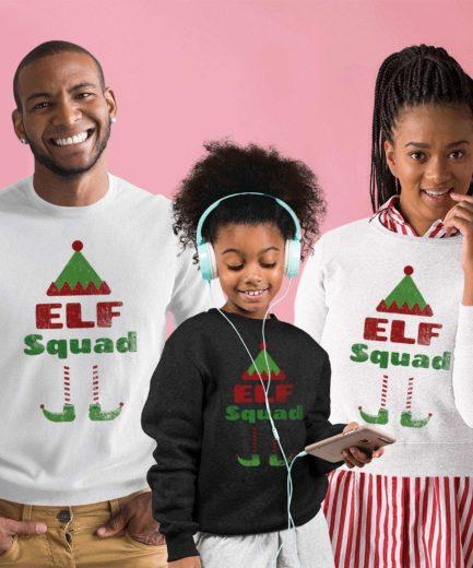 Elf Squad Christmas Sweatshirts, Christmas Outfit, Family Sweatshirts