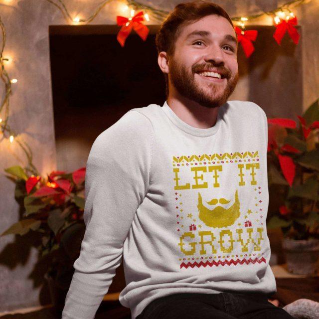 Let It Grow Sweatshirt, Ugly Christmas Sweatshirts, Funny Christmas Sweatshirt