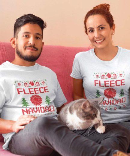 Fleece Navidad Couple Shirts, Matching Christmas Shirts