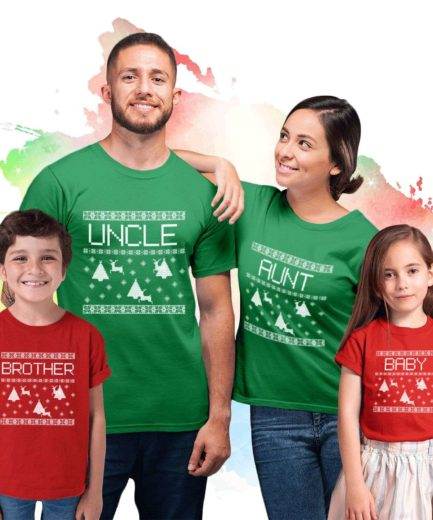Mommy Daddy Baby Ugly Family Shirts, All Family Members, Christmas Shirts