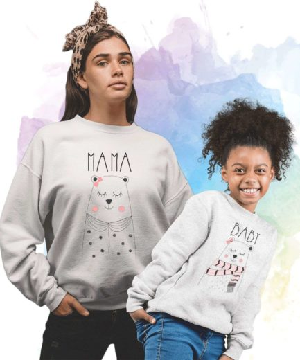 Mama Bear Baby Bear Sweatshirts, Family Sweatshirts, Matching Mommy and Me