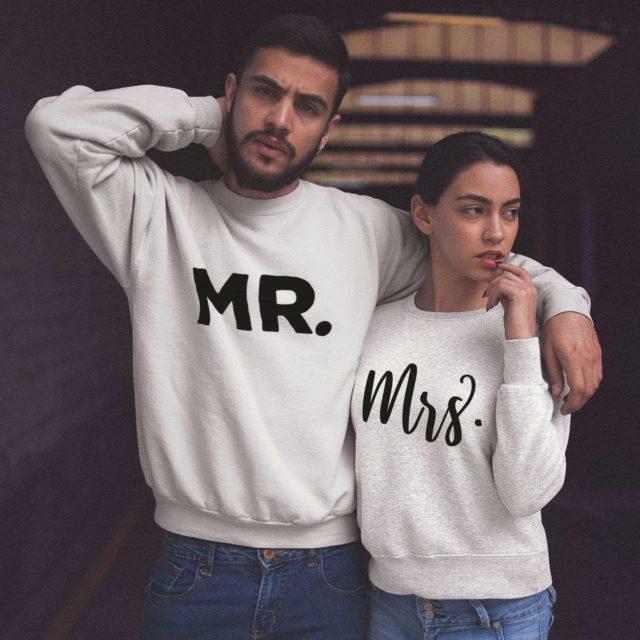 Just Married Couples Sweatshirts,Mr, Mrs, Matching Couple Sweatshirts