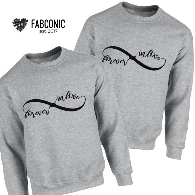 Couples Sweatshirts, Forever Inlove Matching Couples Sweatshirts