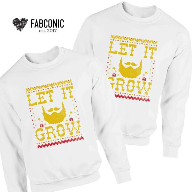 Let It Grow Sweatshirt, Ugly Christmas Sweatshirts, Funny Christmas Sweatshirt