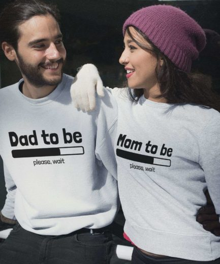 Loading Mom to be Sweatshirt, Loading Dad to be, Couple Sweatshirts