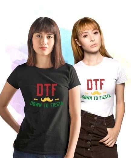 DTF Down to Fiesta Shirt, Cinco de Mayo Shirt, Day Drinking Shirt