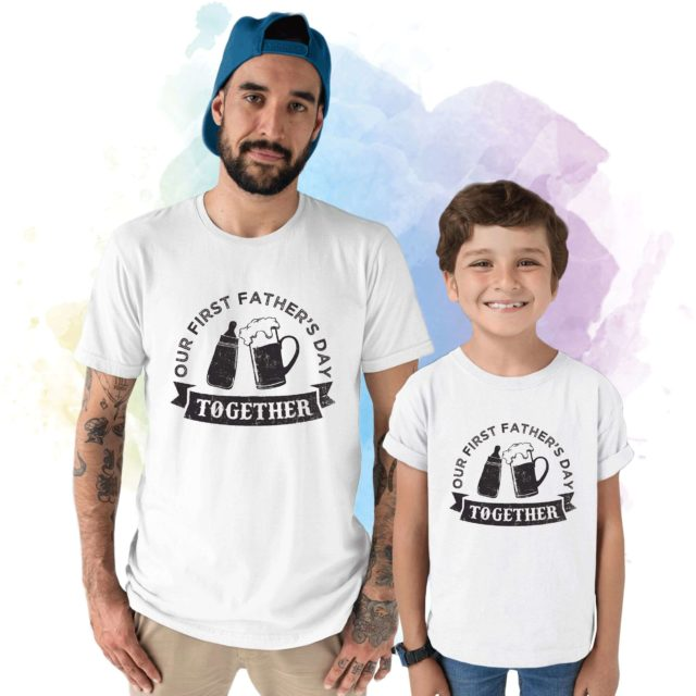 First Fathers Day Shirts, Father & Kid Matching Outfit, Gift for Dad
