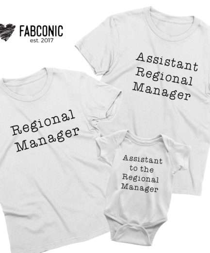 Office Family Shirts, Regional Manager, Assistant to the Regional Manager, Family Shirts