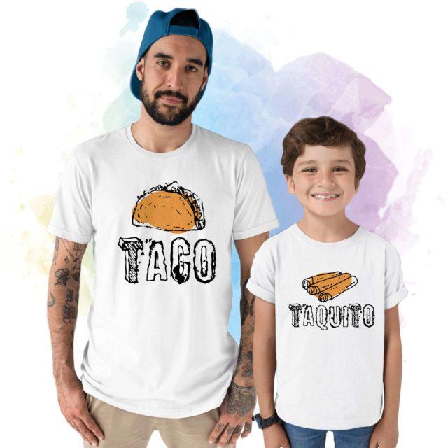 Taco Taquito Shirts, Father & Kid Matching Shirts, Gift for dad