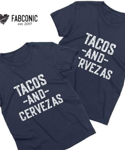 Tacos and Cervezas Shirt, Cinco de Mayo Shirt, Funny Gift for Women