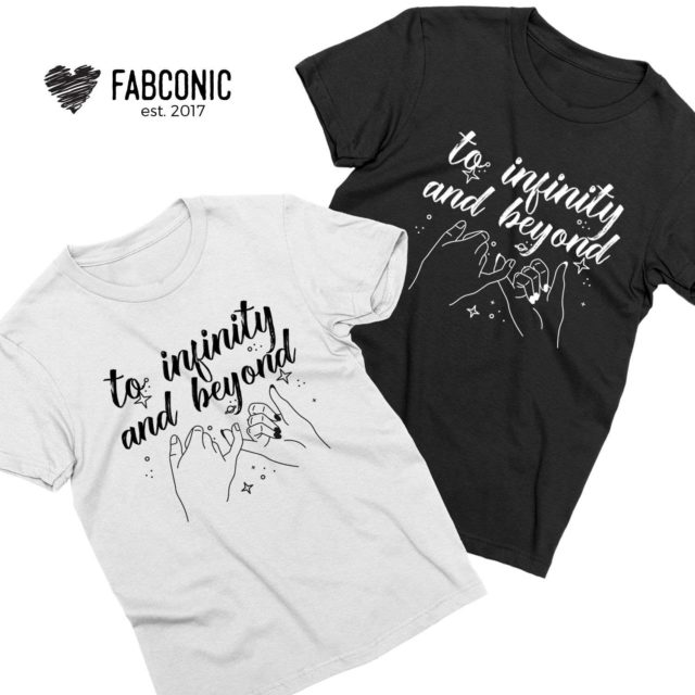 To Infinity and Beyond Shirt, Couples Matching Shirts, Couples Gift