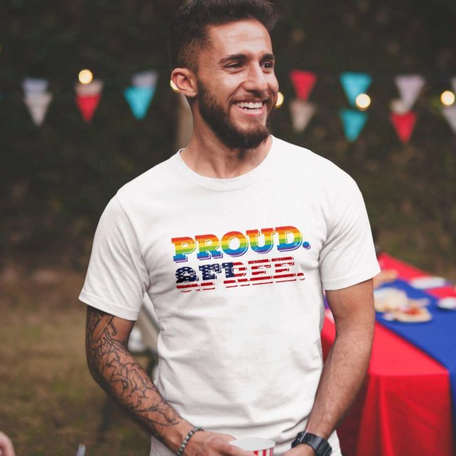Proud and Free Couples Shirts, 4th of July Shirt, LGBT Shirts