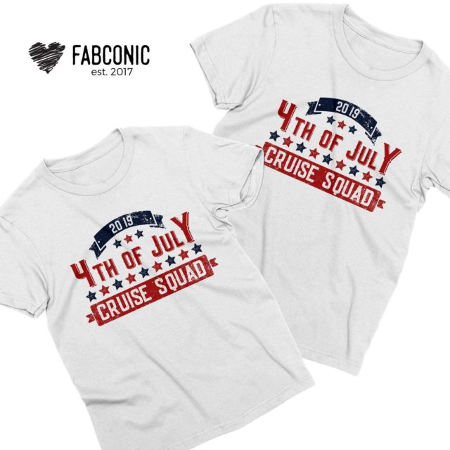 4th of July Cruise Squad Shirts, 4th of July Couple Shirts