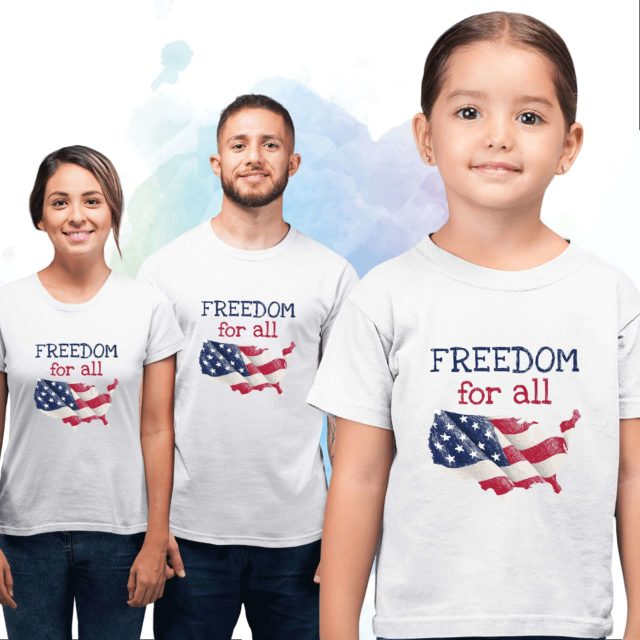 Freedom for All Shirts, 4th of July Family Shirts, Family Shirts