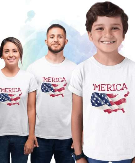 Merica Family Shirt, American Flag, 4th of July Family Shirts