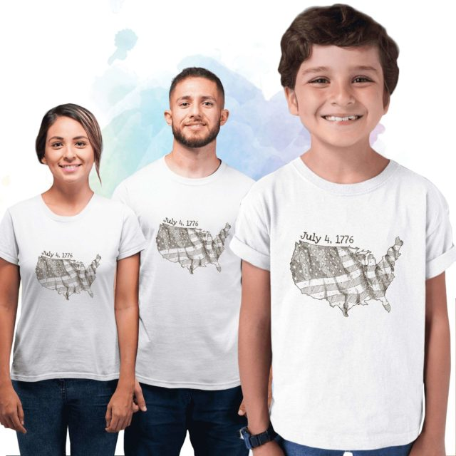 American Flag Family Shirts, July 4th 1776, 4th of July Family Shirts