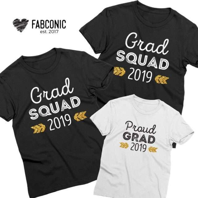 Grad Squad Shirts, Custom Year, Family Shirts, Graduation Shirts