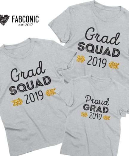 Grad Squad Shirts, Custom Year, Family Shirts, Graduation Shirts