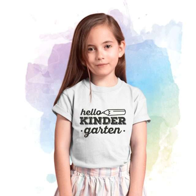 Hello Kindergarten, Back to School Shirts, Start of the Year Shirt