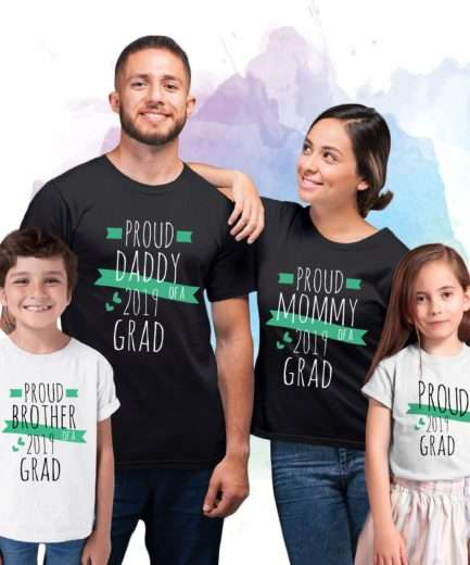 Grad Family Shirts, Mommy of a Grad, Daddy of a Grad, Custom Family Shirts