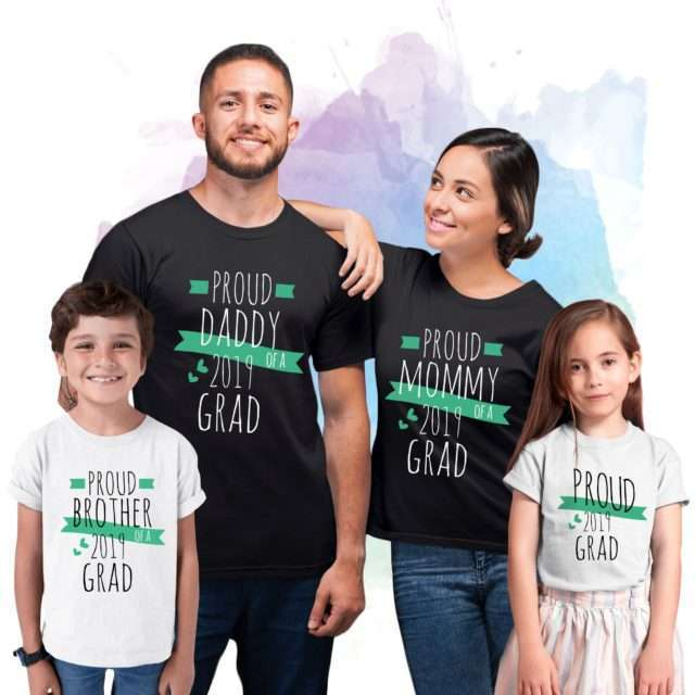 Grad Family Shirts, Mommy of a Grad, Daddy of a Grad, Custom Family Shirts