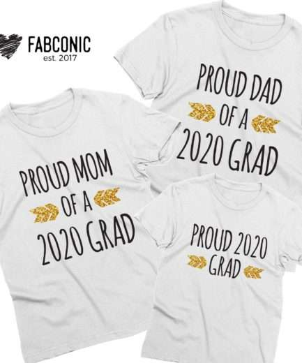 Graduation Family Shirts, Mom of a Grad, Dad of a Grad, Custom Family Shirts