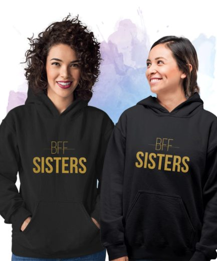 BFF Sisters Hoodies, Matching Best Friends Hoodies, BFF Gift, Sister Gift