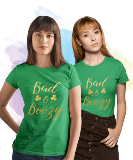 BFF St Patricks Day Outfit, Bad & Boozy, St. Patrick's Day Shirt