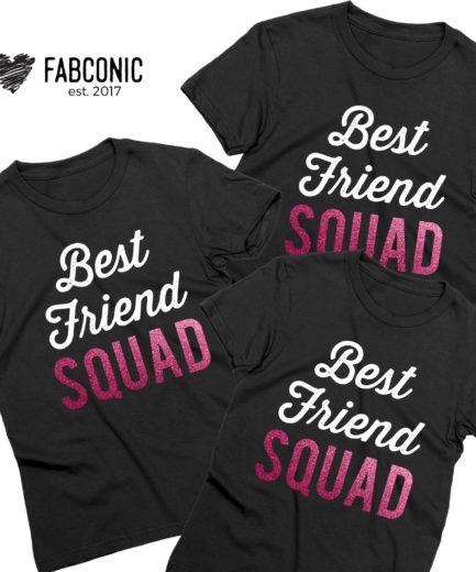 Best Friend Squad Shirts Best Friends Gift Cute Bff T Shirts