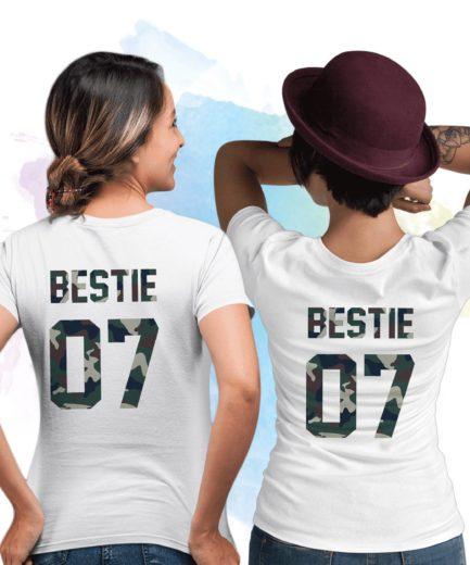 Custom Bestie Shirts, Bestie 07, Camouflage Print, Best Friend Shirts