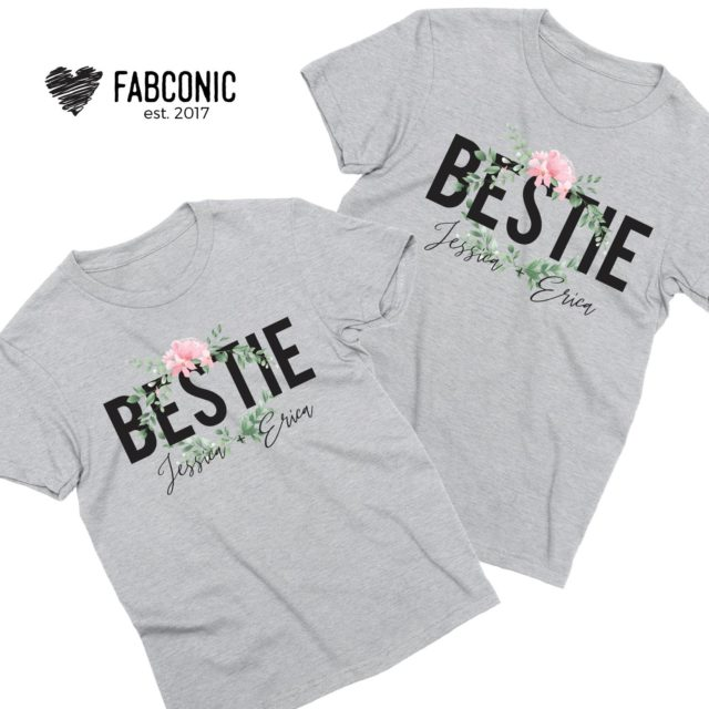 Personalized Best Friends Shirts, Bestie, Personalized Names, Best Friends Shirts