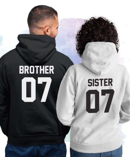 Brother Sister Matching Hoodies, Family Hoodies, Sibling Hoodies