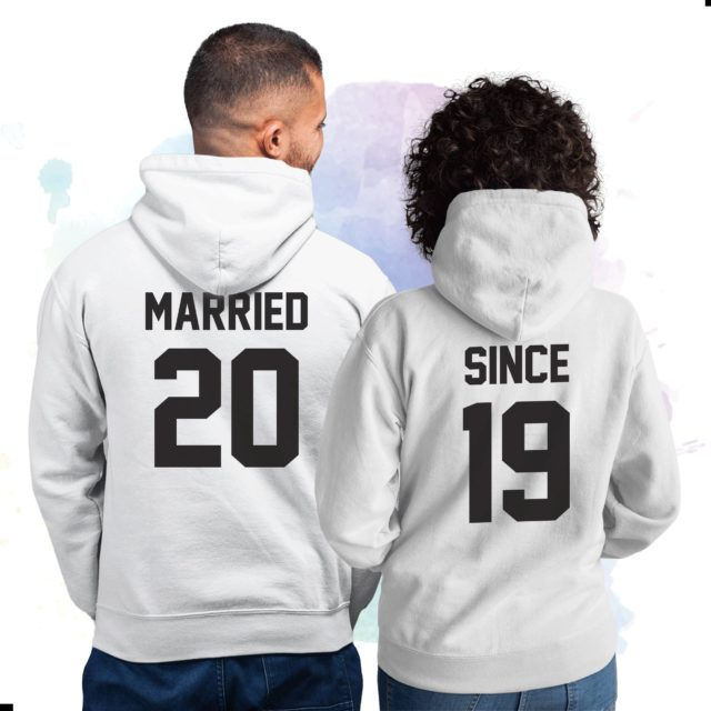 Married Since Couple Hoodies, Wedding Gift, Anniversary Gift, Matching Hoodies