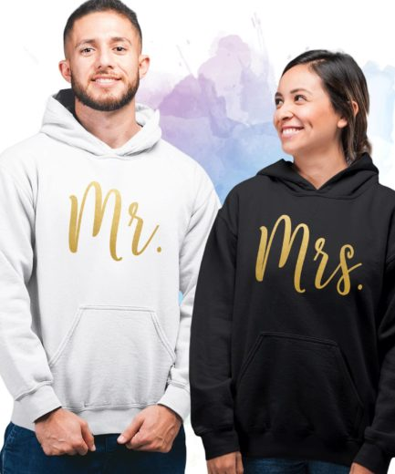 Mr Mrs Anniversary Gift, Couple Hoodies, Matching Hoodies for Couple