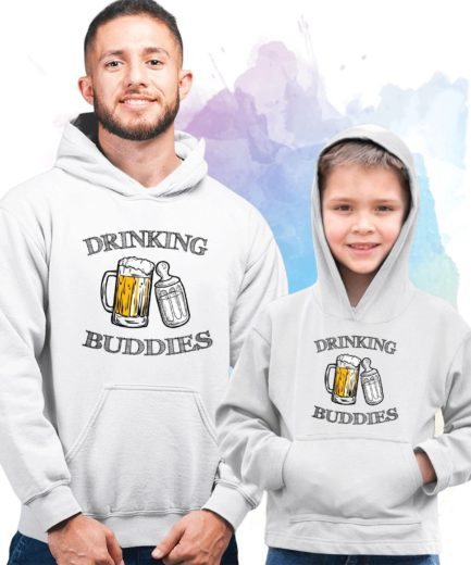 Drinking Buddies Hoodies, Family Hoodies, Matching Hoodie for Father Son
