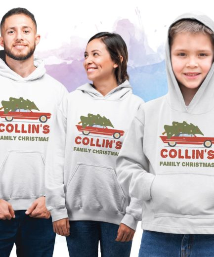 Personalized Family Christmas Hoodies, Family Christmas Hoodies