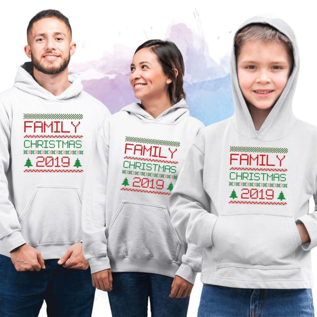 Personalized Family Christmas Hoodies, Family Hoodies