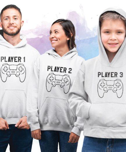 Birthday Family Hoodies, Player 1 2 3, Matching Family Hoodies