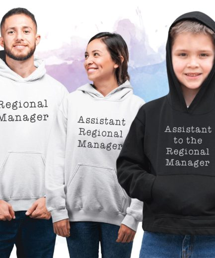 Father Son Family Hoodie, Regional Manager, Assistant to the Regional Manager