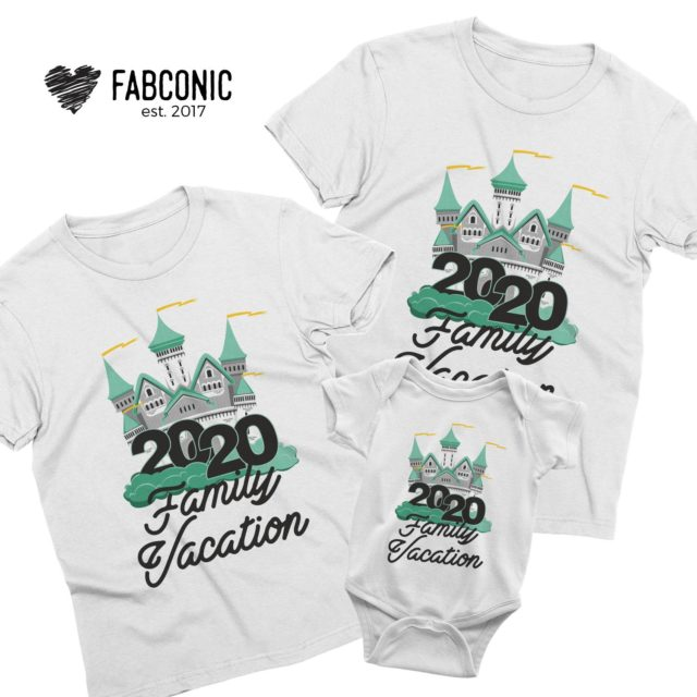 Family Vacation Outfit, Castle, Family Vacation 2020, Matching Family Shirts