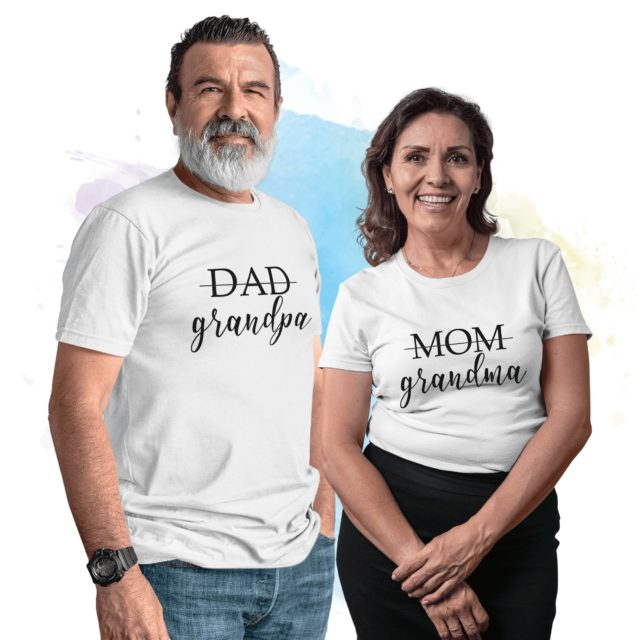 Grandparents Pregnancy Announcement Shirts, Grandma and Grandpa Shirts