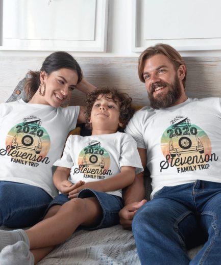 Summer Family Trip Shirts, Family Trip 2020, Custom Family Name Shirts, Beach