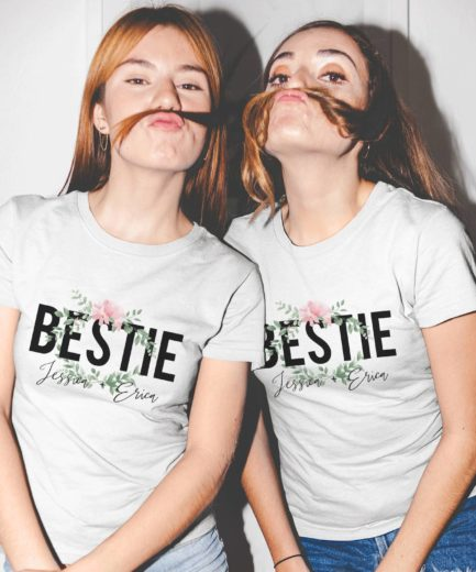 Personalized Best Friends Shirts, Bestie, Personalized Names, Best Friends Shirts